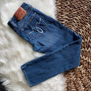 Lucky Brand Lola Straight Run Stitch Jeans